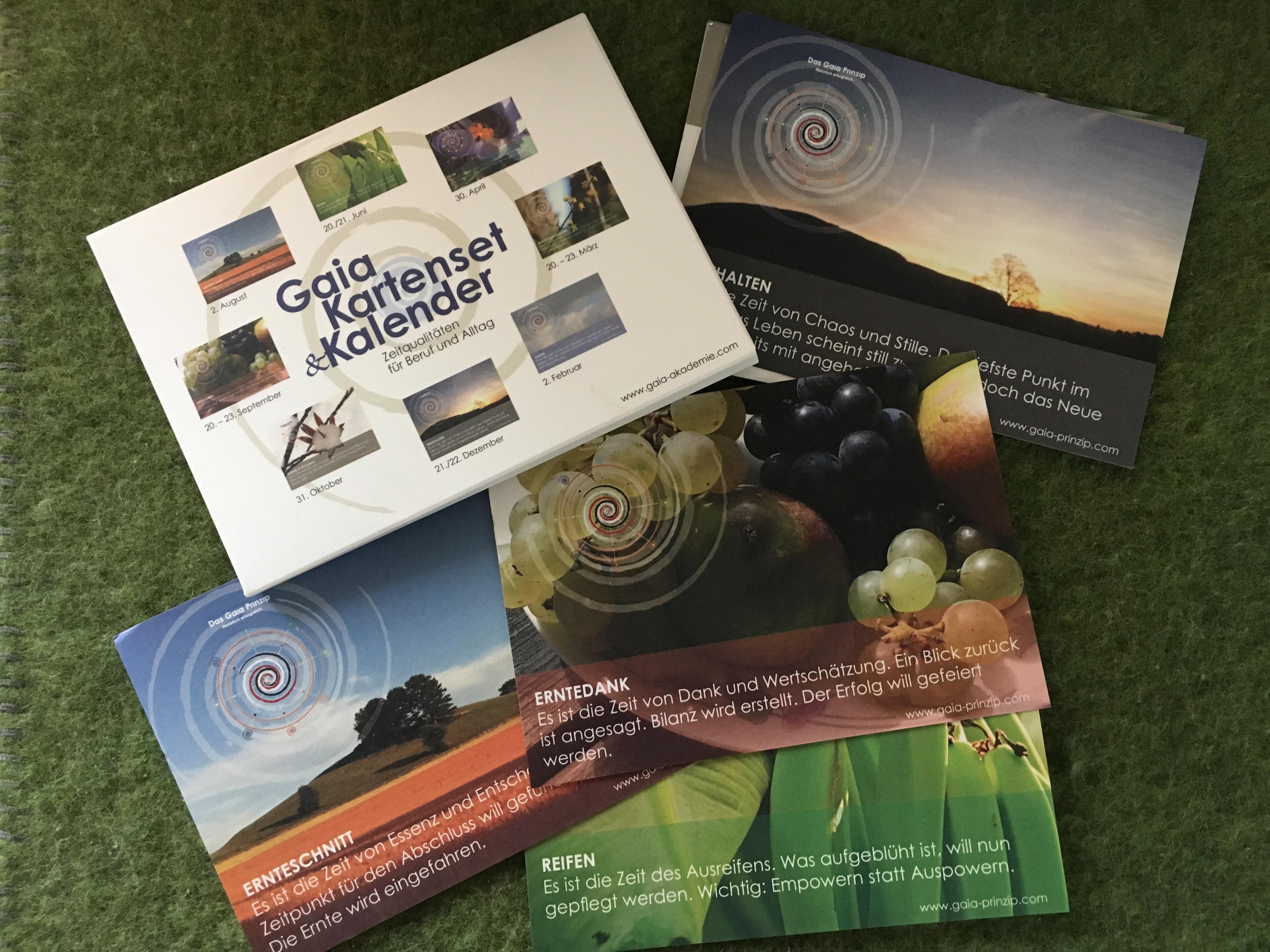 Kartensets GaiaPrinzip - Buchempfehlungen