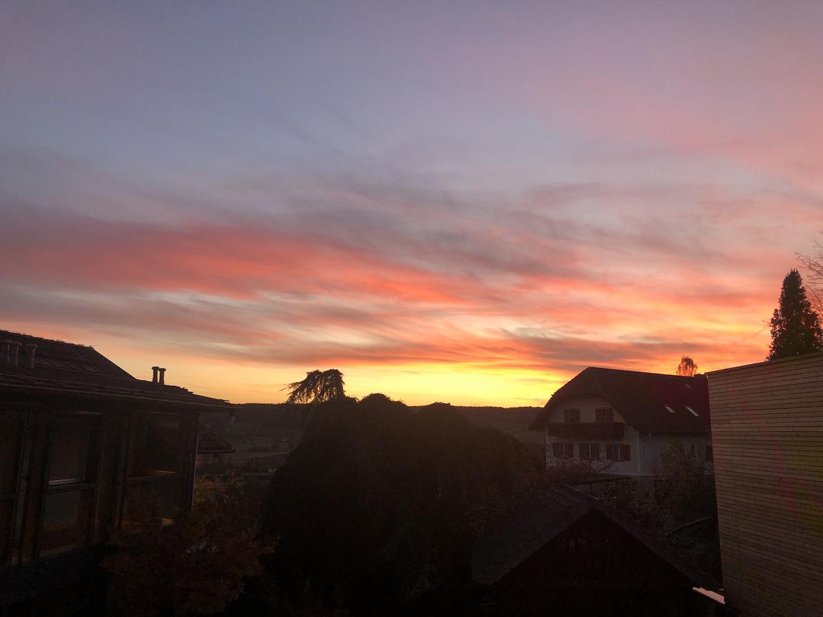 SonnenuntergangWaltersdorf sm - Über erzwungene Ruhe, Erschöpfung,  Schleudertraumen und was JETZT hilft